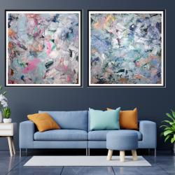 Zestaw dwóch obrazów ręcznie malowanych 80x80