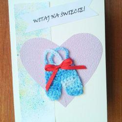 Kartka  z okazji narodzin dla  chłopca