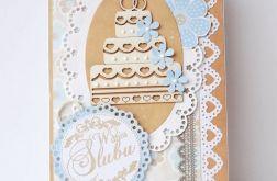 Kartka ślubna z tortem 280117