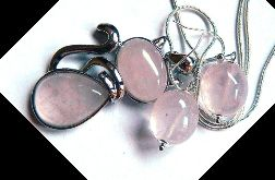 Kwarc różowy kamień miłości, piękna biżuteria