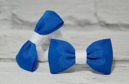 Niebiesko biała kokardka do włosów. Zuzia.