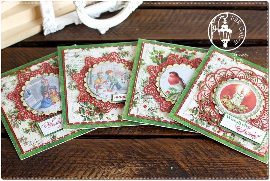 Kartka - Boże Narodzenie z tłem i grafiką
