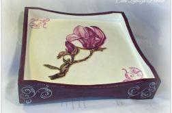 Taca dwustronna z magnolią