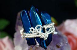 Srebrny pierścionek z kwarcem tytanowym