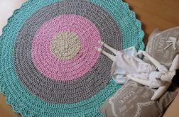Dywan ze sznurka bawełniany okrągły 130 cm