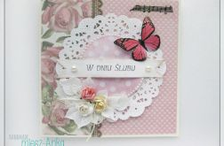 Kartka na Ślub z motylkiem 1