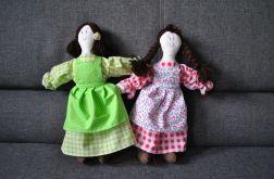 Szmaciana lalka Oleńka - malinowa