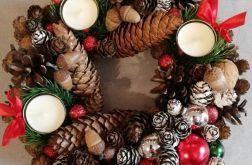 Wianek Dekoracja stroik Boże Narodzenie 30cm