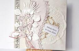 Kartka ślubna jasnoróżowa 81016