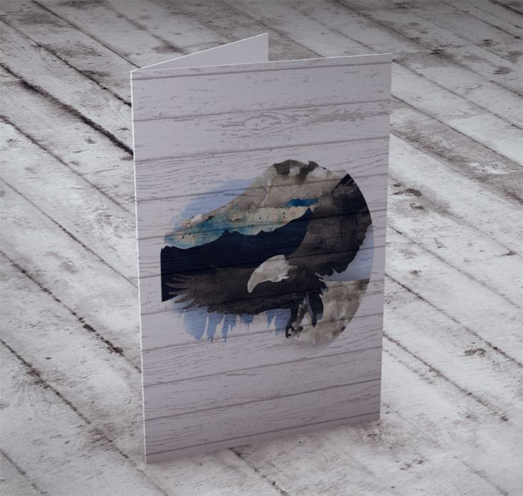 Kartka z sokołem na życzenia... -