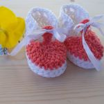 Buciki z bawełny - buciki szydełkowe