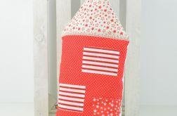 Poduszka dekoracyjna wałek 30x55cm - Domek K