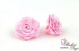 Gumki do włosów różowe kwiatki