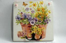 """Wieszak obrazek """"Kwiaty w donicach"""""""