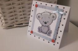 Kartka na Narodziny Roczek urodziny misiu