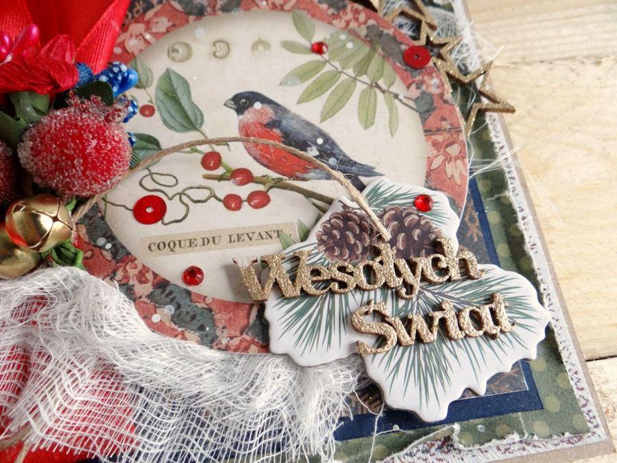 Kartka świąteczna w pudełku VINTAGE #2 - Detal3
