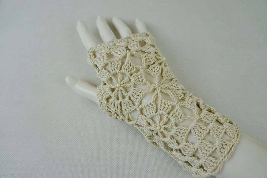 Rękawiczki, mitenki beżowe