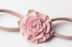 Opaska do włosów kwiatuszek ice pink