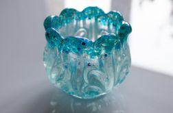 Pojemnik doniczka wazon kryształ z żywicy