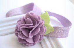 FairyBows * opaska * kwiatek 3D * fioletowy