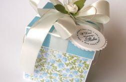 Pudełko na ślub Niebieskie kwiaty