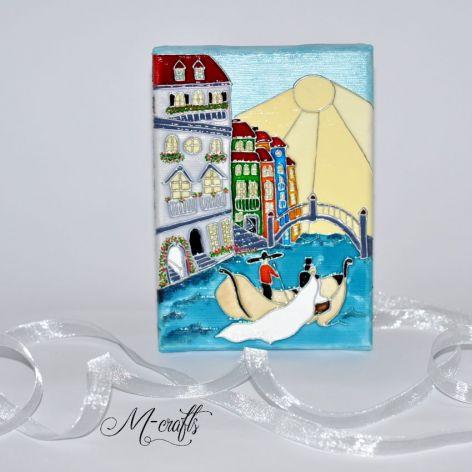 Wenecja...Kartka ślubna na płótnie