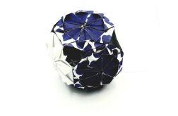Bombka origami mini kusudama z papieru kwiaty