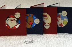 Mikołaj idzie...Komplet 4 kartek
