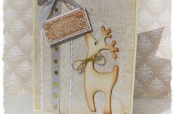 Kartka świąteczna z reniferem