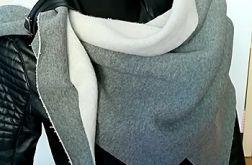 Szalik chusta z tkaniny dresowej