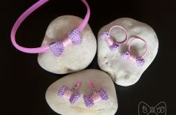#1 Fiolet-Róż - Zestaw:Spinki, gumki i opaska