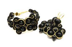 komplet biżuterii sutasz z onyksami