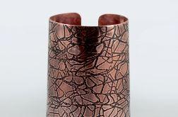 Pajęczyna - miedziana bransoleta 210601-03