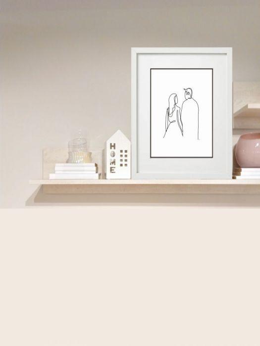 Grafika Kobieta i mężczyzna - Na półce