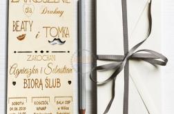 Zaproszenie dla Druhny Drużby Świadek Ślubne
