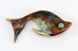 Broszka ceramiczna rybka