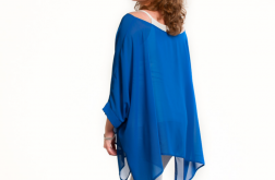 Szyfonowa tunika-narzutka CHABER niebieska