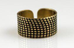 Kratka - mosiężny pierścionek