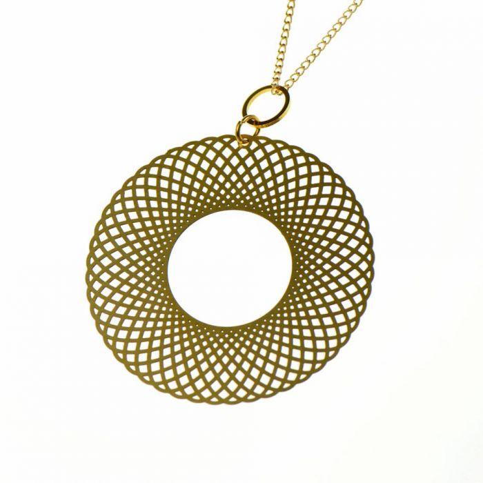 Naszyjnik ażurowy koło Dike Dike - Naszyjnik w kształcie koła, naszyjnik ażurowy