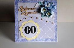 Kartka na 60 urodziny ręcznie robiona
