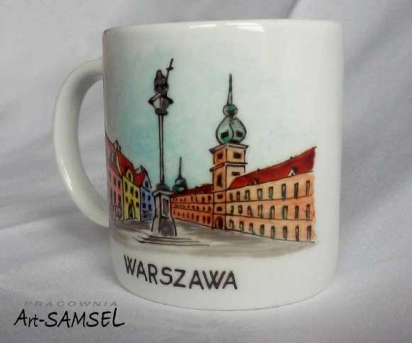 Kubek WARSZAWA - zamek -