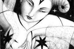 Tancerka - oryginalny rysunek 9808