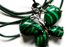 Motyl z zielonym malachitem, delikatny wisior