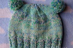 Zimowa czapka pastel zieleń
