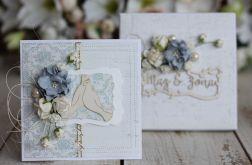Kartka z pudełkiem - romantyczny ślub4