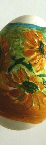 Kacze Jajeczko Malowane Słoneczniki