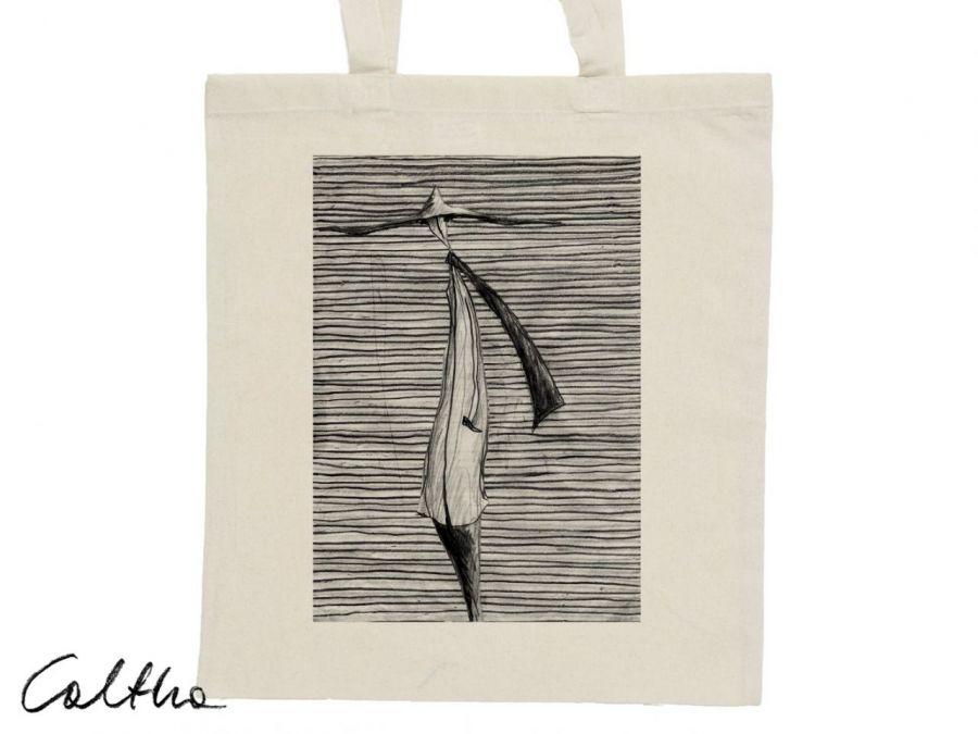 Kapelusz - torba z nadrukiem