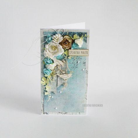 Kartka urodzinowa, turkusowa, 443