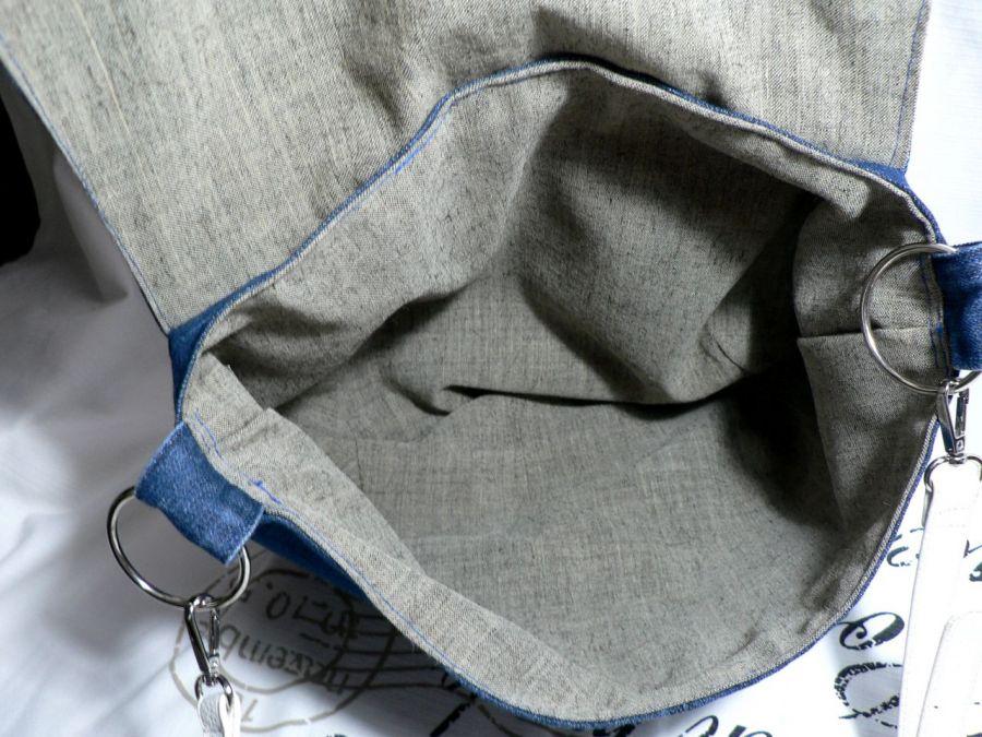"""Torba dżinsowa """"Statua wolności w bandanie""""01) - bag"""