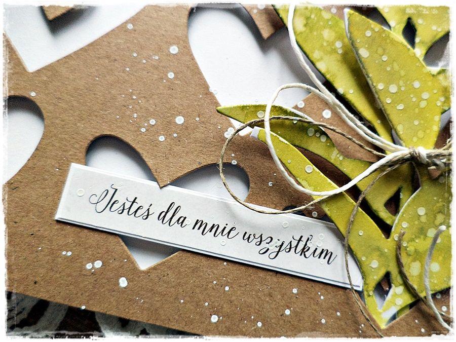 Naturalnie - kartka ślubna